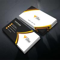 Orange elegant corporate card