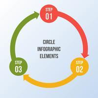 Gráfico de círculo, infografía de flechas de círculo o plantillas de diagrama de ciclo