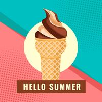 Summer With Ice Cream Vector