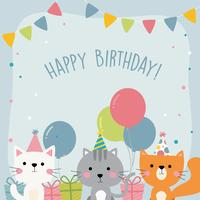 Happy Birthday Animal Greetings card