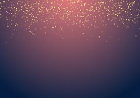 El brillo de oro que cae abstracto enciende textura en un fondo azul marino con la iluminación.