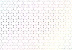 Abstract colorful hexagons seamless pattern on white background and texture.