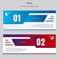 Banner web template layout abstract geometric red and blue color corporate business concept cover header background