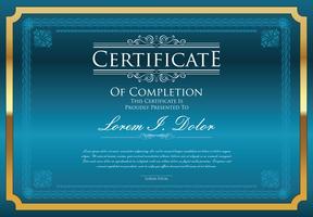 Plantilla de certificado vector