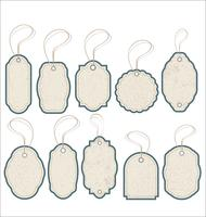 Vintage Style Sale Tags Design vector