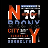 New York City typographie conception tee pour t-shirt