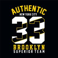 Tee-shirt new york city, graphique de Brooklyn