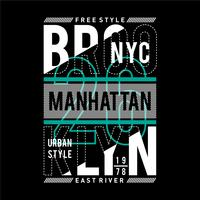 new york city typography design t-shirt