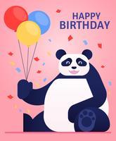 Saudações de animais feliz aniversário