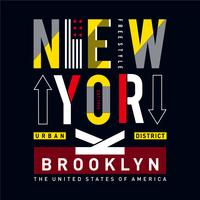 New York t-skjorta grafik, utslagsplatsdesign