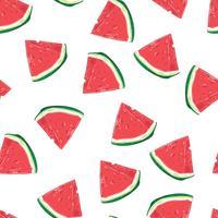 Nahtloses Muster von Wassermelonenscheiben. Vektor-illustration