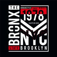 the bronx  typography design for t shirt men