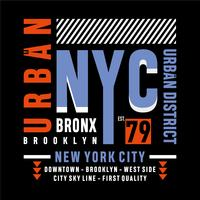 urban new york typography design tee for t shirt