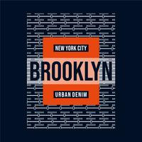 vector illustration on theme new york city typography