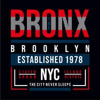Bronx, tee shirt new york, brooklyn, élément graphique