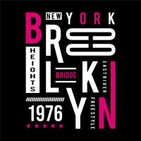 brooklyn - bridge typografieontwerp voor t-shirt