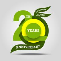 20th anniversary sign and logo celebration  vector
