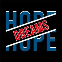 hope typography vintage tee graphic
