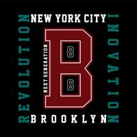 New York City typography t-shirt graphics