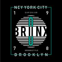 konceptkonst - Vektor New York City Urban Style T-shirt design grafisk typografi