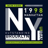 New York City Urban T-shirt design grafisk typografi