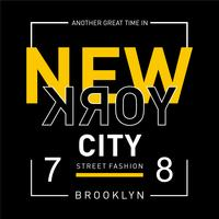 New York typography, t-shirt graphics