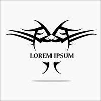 vetor de logotipo de coruja negra: conceito em pássaro de sabedoria estão em pé para voar