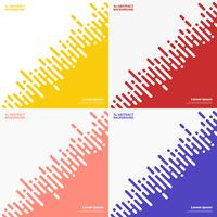 Abstract set colors stripe line of techno design background. illustration vector eps10