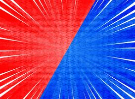 Fondo azul rojo de los colores del contraste abstracto de la explosión del sol. ilustración vectorial eps10