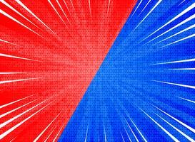 O sol vermelho abstrato do contraste da explosão colore o fundo azul. ilustração vetorial eps10