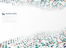 Modern teknologi cirkel färger mönster av futuristisk design bakgrund. illustration vektor eps10
