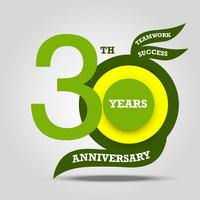 30th anniversary sign and logo celebration