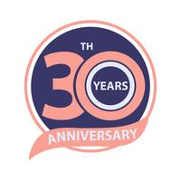 30 th anniversary sign and logo celebration