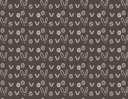 Happy easter pattern background, Cute easter pattern for kids, Vector illustration.