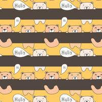 Schattige beer patroon achtergrond. vector achtergrondbehang.