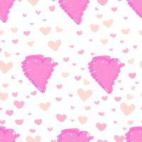 Heart abstract pattern background, Love doodle style pattern, Vector illustration.