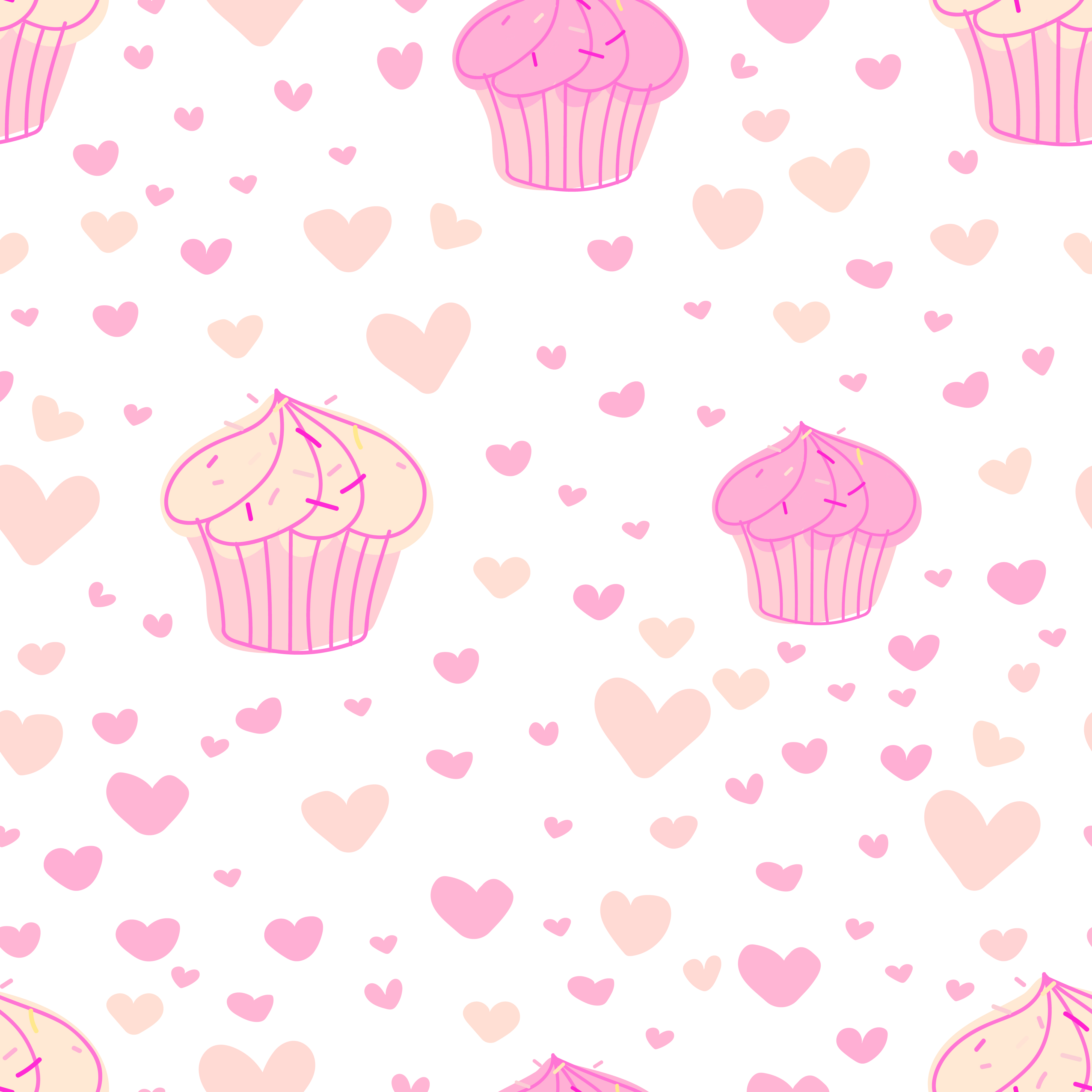 cupcakes pattern background cute bakery pattern vector illustration download free vectors clipart graphics vector art vecteezy