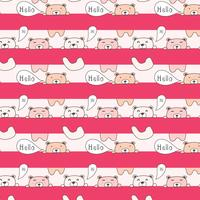 Cute Bear Pattern Background. vector background wallpaper.