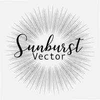 Sunburst stil isolerad på vit bakgrund, Bursting strålar vektor illustration.