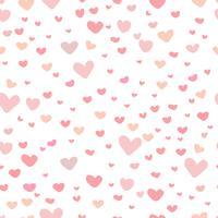 Fondo abstracto del modelo del corazón, modelo del estilo del garabato del amor, ejemplo del vector.