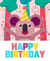 Feliz cumpleaños animales saludos