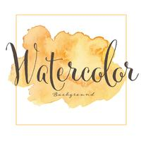 Abstracte waterverfachtergrond. Vector illustratie.