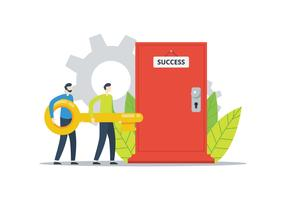 Success Door vector
