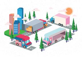 Isometric Transportation Clip Art Set Vol 3 Vector