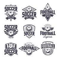 Conjunto de emblemas de vetor clássico de futebol