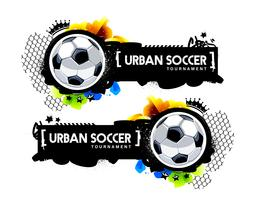Graffiti-stijl stedelijke voetbalbanner