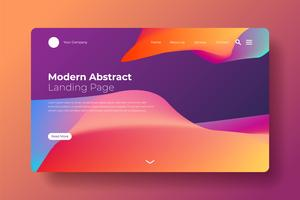 Modern abstract landing page