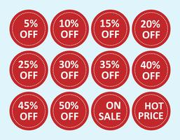 vector of  on sale tags