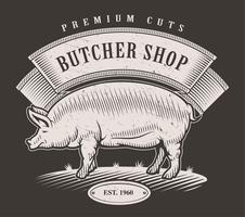 Butcher shop emblem