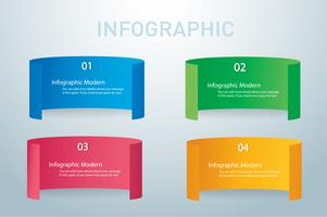 paper info graphic banners vector design template